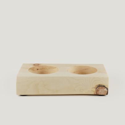 Zirbenboard Natur für zwei Gewürzmühlen