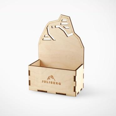 Holzmenage für zwei Design Premium Mühlen
